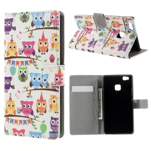 Flip Stand Wallet Leather Cover for Huawei P9 Lite - Lovely Little Owls