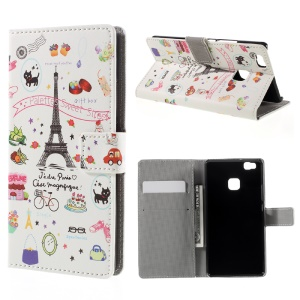 PU Leather Card Holder Case for Huawei P9 Lite - Palettes Sweet Street