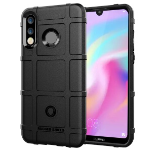 Anti-shock Square Grid Texture TPU Case for Huawei P30 Lite - Black