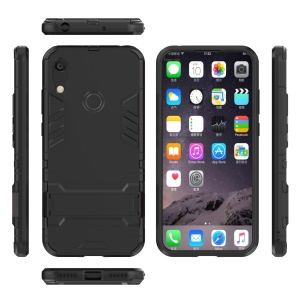 For Huawei Honor 8A / Y6 (2019) Cool Guard Kickstand PC + TPU Hybrid Phone Case - Black