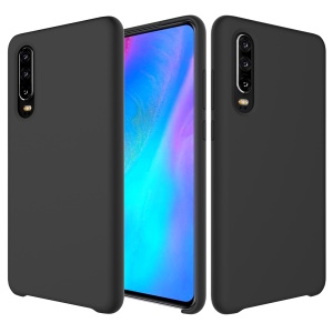 Liquid Silicone Protector Case for Huawei P30 - Black