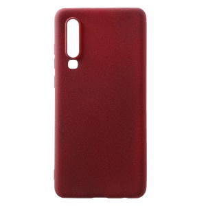 Skin-touch Matte TPU Protective Phone Case for Huawei P30 - Wine Red