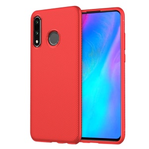 LENUO Twill Texture TPU Back Mobile Case for Huawei P30 Lite - Red