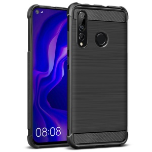 IMAK Vega Carbon Fiber Texture Brushed TPU Cell Phone Casing for Huawei nova 4