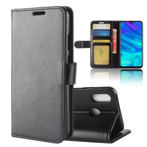 Crazy Horse PU Leather Stand Wallet Flip Case for Huawei Y7 (2019) - Black