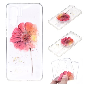 For Huawei P30 Pro Pattern Printing TPU Back Protector Cover - Vivid Flower
