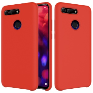 Liquid Silicone Mobile Shell for Huawei Honor View 20/V20 - Red
