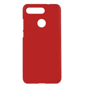 Rubberized Case for Huawei Honor View 20/V20 Hard Plastic Mobile Shell - Red
