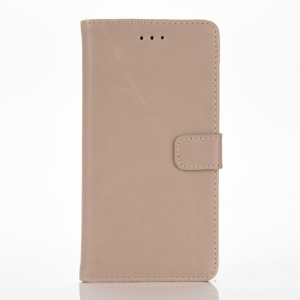 Retro Style Leather Wallet Flip Cover for Huawei P9 Lite - Grey