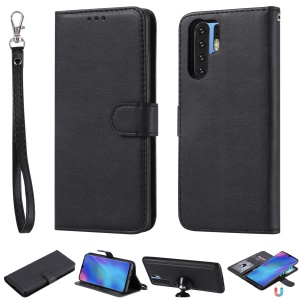 Magnetic Detachable 2-in-1 Wallet Leather Stand Case for Huawei P30 Pro - Black