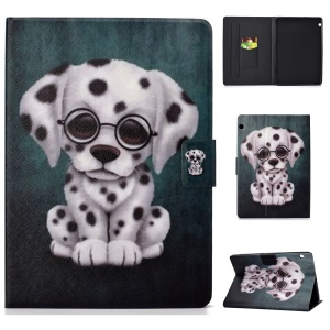 Patterned PU Leather Tablet Shell [Card Holder Stand] for Huawei MediaPad T3 10 - Dog