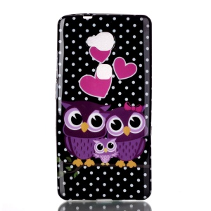 Pattern Printing TPU Phone Back Shell Cover for Huawei Huawei Honor Play 5X / Honor 5X - Intimate Owl Family
