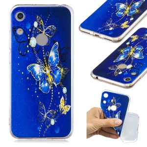 Pattern Printing TPU Back Case for Huawei Honor 8A - Butterfly Pattern