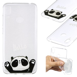 Pattern Printing TPU Case for Huawei Y7 (2019) - Cute Panda