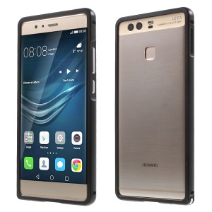 Aluminium Alloy Bumper for Huawei P9 with Hippocampal Buckle - Black
