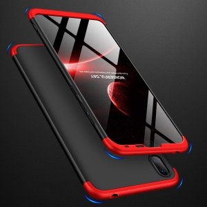 GKK Detachable 3-Piece Matte Hard PC Case for Huawei Y7 Pro (2019) - Red / Black