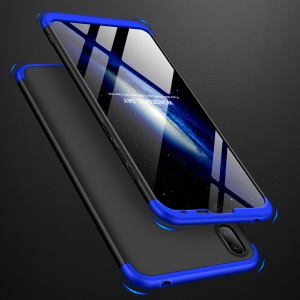 GKK Detachable 3-Piece Matte Hard PC Case for Huawei Y7 Pro (2019) - Blue / Black