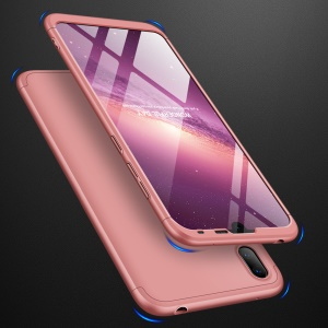 GKK Detachable 3-Piece Matte Hard PC Case for Huawei Y7 Pro (2019) - Rose Gold