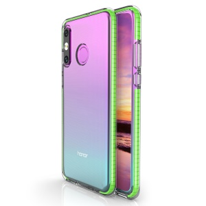 For Huawei P30 Lite Dual-color Shock-resistant TPE TPU Hybrid Phone Case - Green