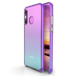 For Huawei P30 Lite Dual-color Shock-resistant TPE TPU Hybrid Phone Case - Purple