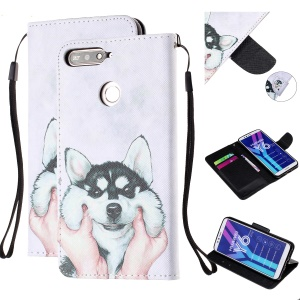 Pattern Printing Wallet Leather Stand Case for Huawei Y6 (2018) - Dog