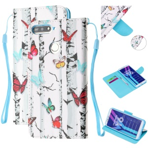 Pattern Printing Wallet Leather Stand Case for Huawei Y6 (2018) - Colorful Butterflies