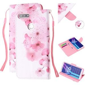 Pattern Printing Wallet Leather Stand Case for Huawei Y6 (2018) - Pretty Flower