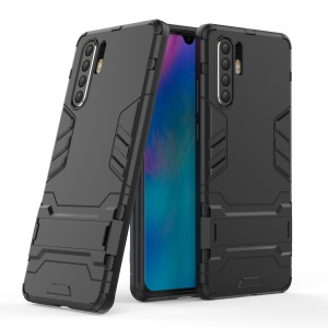 Plastic + TPU Hybrid Case with Kickstand for Huawei P30 Pro - Black