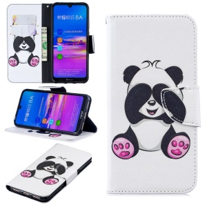 Pattern Printing Leather Wallet Case for Huawei Honor 8A - Cute Panda