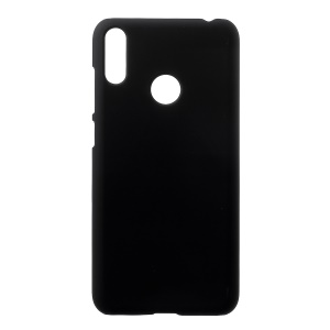 Rubberized Hard PC Shell for Huawei Y7 (2019) - Black