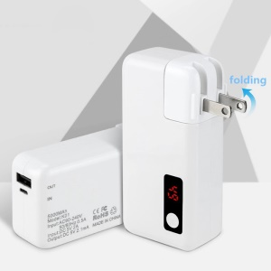 2 in 1 5000mAh Power Bank + Wall Charger Adapter with Digital Display