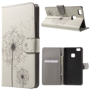 Leather Wallet Stand Case for Huawei P9 Lite - Flying Dandelion