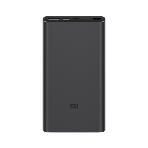 XIAOMI Mobile Power Bank 3 10000mAh 18W Quick Charge External Battery for iPhone Samsung Xiaomi, etc - Black
