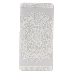 Embossed Hard Plastic Case for Huawei P9 - Stylish Flowers