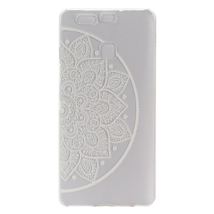 Embossed Hard Cover Case for Huawei P9 - Henna Flowers