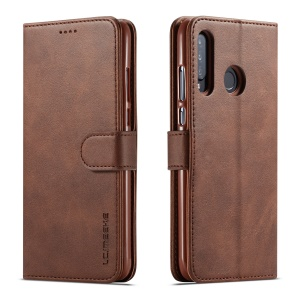 LC.IMEEKE Wallet Leather Stand Case for Huawei P30 Lite - Coffee