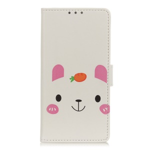 Pattern Printing PU Leather Cell Phone Case with Wallet for Huawei Y6 Pro (2019) - Cute Animal