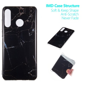 Marble Pattern IMD TPU Case for Huawei P30 Lite - Style A