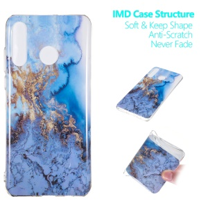 Marble Pattern IMD TPU Case for Huawei P30 Lite - Style J