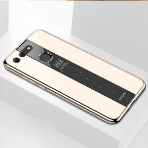 Luxurious Phone Case for Huawei Honor View 20/V20 PC + TPU Hybrid Shell - Gold