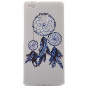 Slim TPU Shell Case for Huawei P9 Lite - Feather Dream Catcher