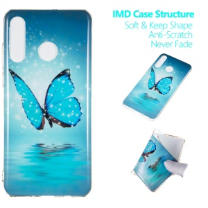 Noctilucent IMD TPU Case for Huawei P30 Lite / nova 4e - Blue Butterfly