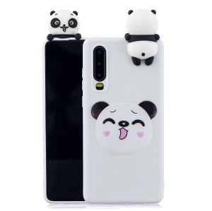 Pattern Printing TPU Gel Protective Case for Huawei P30 with 3D Animal Doll - Koala