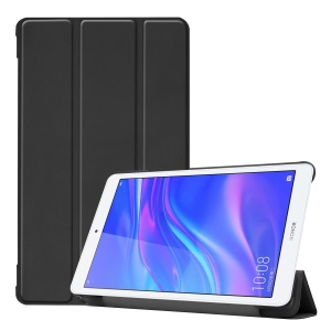 Tri-fold Leather Stand Case for Huawei Honor Pad 5 8.0-inch - Black