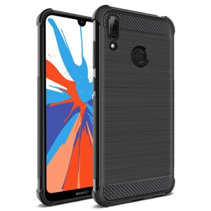 IMAK Vega Air Bag Case Carbon Fiber Brushed TPU Cover for Huawei Y7 (2019)/Y7 Prime (2019)