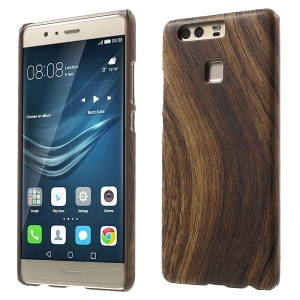 Wood Grain Leather Coated PC Case for Huawei P9