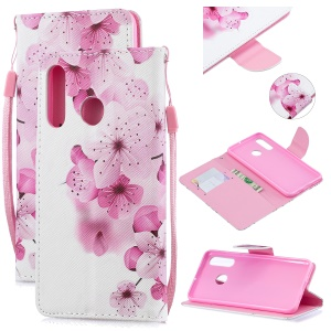 Pattern Printing Leather Wallet Case for Huawei P30 Lite New Edition/P30 Lite/nova 4e - Pretty Flower