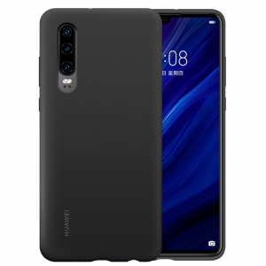 HUAWEI Liquid Silicone Silky Feel Shell Case for Huawei P30 - Black