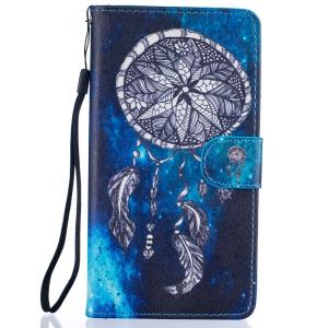 Patterned PU Leather Stand Shell for Huawei P9 Lite - Dream Catcher