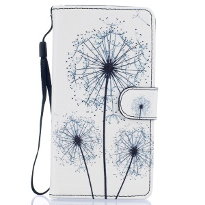 Patterned Card Holder Stand Leather Shell for Huawei P9 Lite - Dandelions